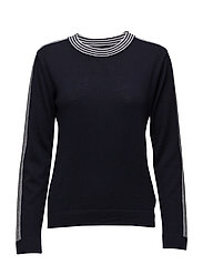 Merino Boutique Karvalla str - NAVY/WHITE