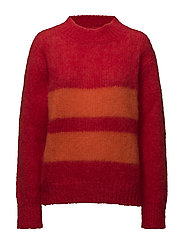 Bold mohair boutique Kranny t - BRIGHT RED/ORANGE
