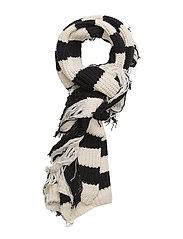 Knit Fringe Africa - ECRU/BLACK