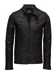 Broken Leather Jiff - BLACK