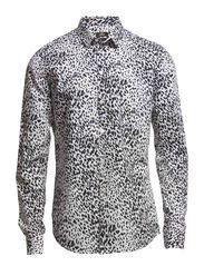 Leopard Voile Sterk - Black/White