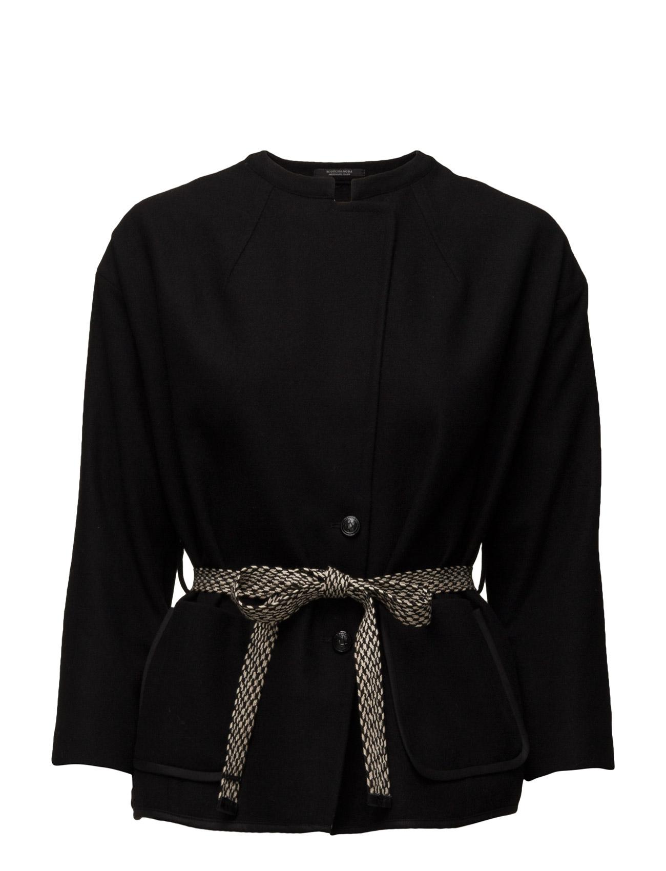 Tailored Blazer In Wool Mix Quality Delivered With Belt Maison Scotch Jakker til Kvinder i