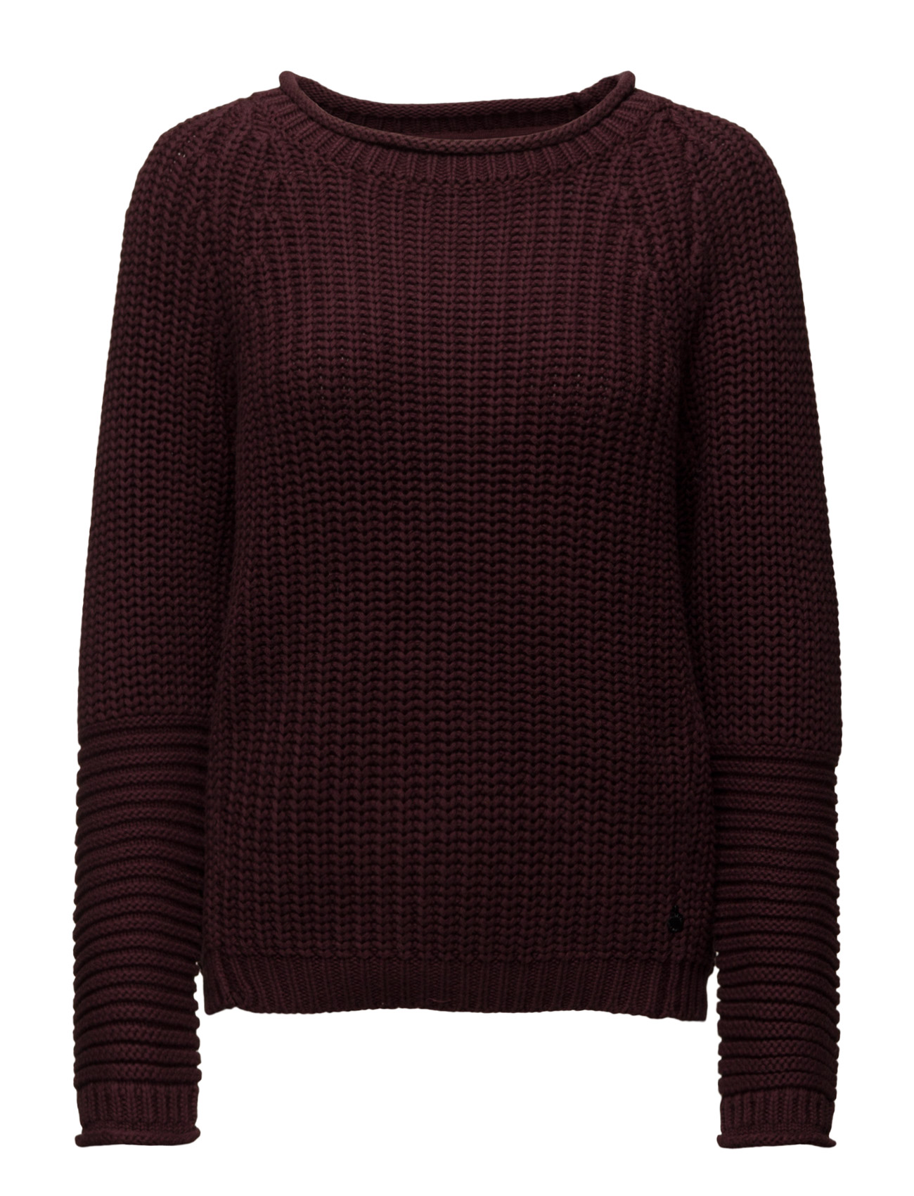 Basic Pull With Shaped Sleeves. Scotch & Soda Striktøj til Kvinder i Palm Brown 96