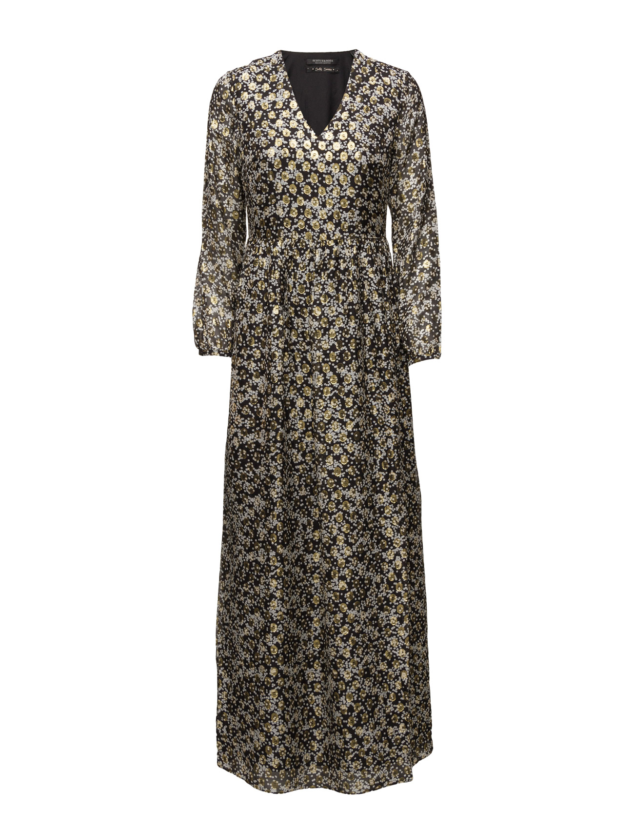 Silk Lurex Jacquard Maxi Dress Maison Scotch Maxi Kjoler til Kvinder i 17 Combo A