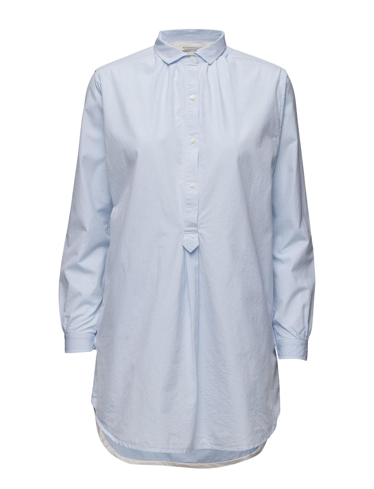 Home Alone Shirt-Dress With Vintage Inspired Detailing Maison Scotch Langærmede til Kvinder i