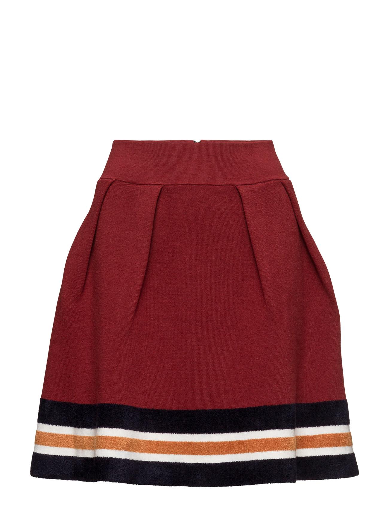 Knitted Skirt With Sporty Stripes At Hem Maison Scotch Korte til Kvinder i