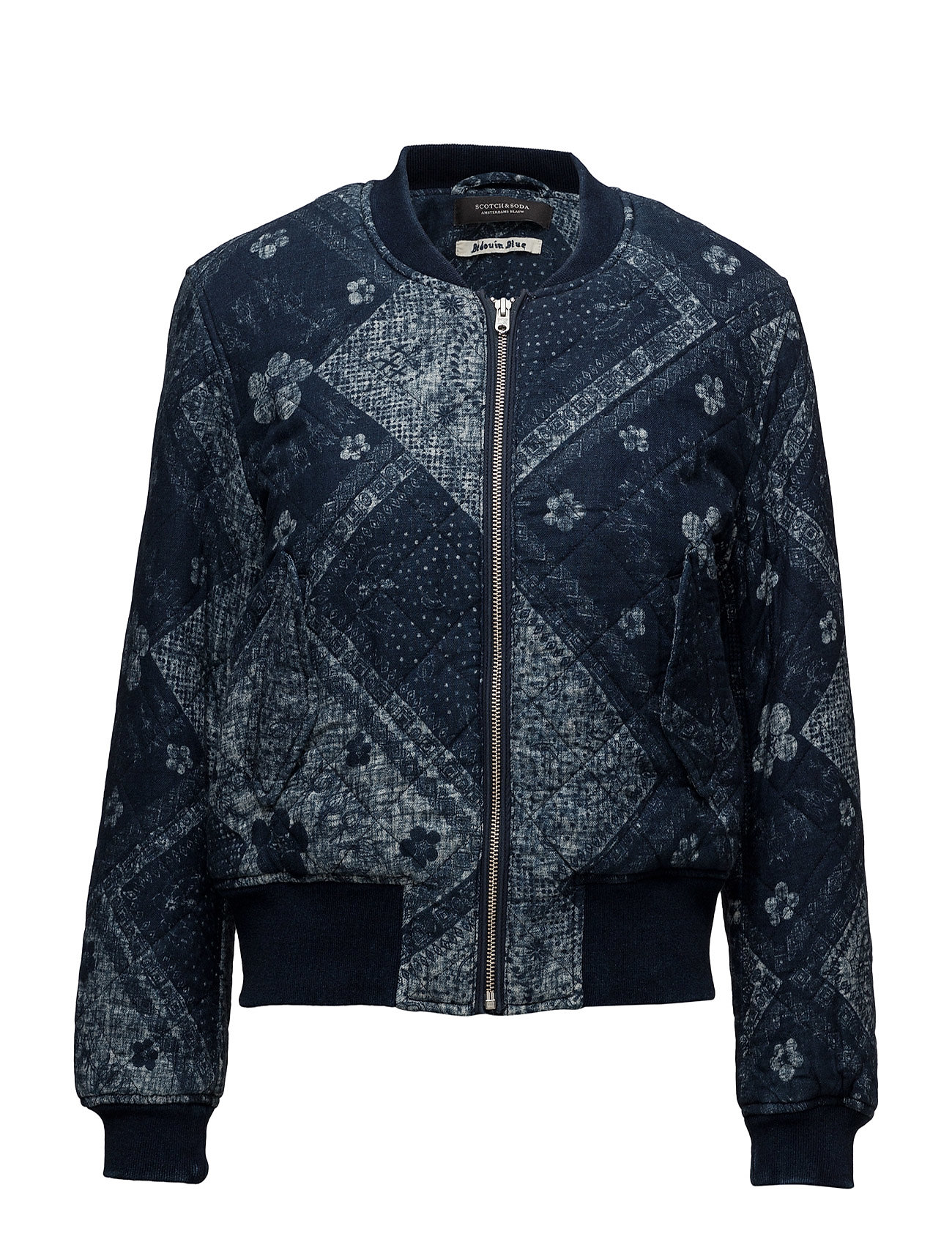 scotch & soda Bomber jacket in indigo quality på boozt.com dk