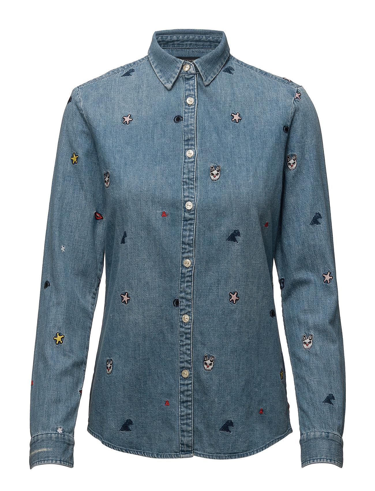 Allover Embroidered Shirt Scotch & Soda Trøjer til Kvinder i Combo A