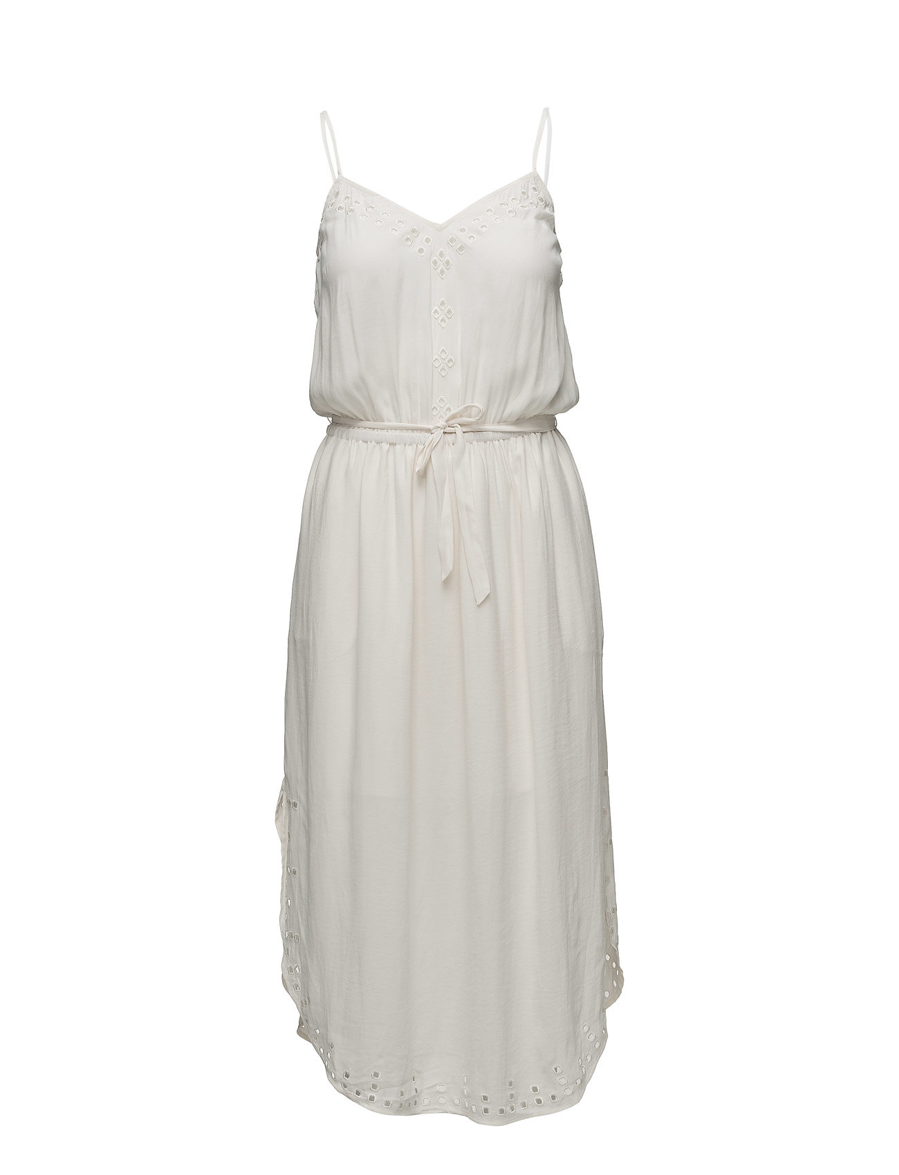 Strapey Summer Dress With Cutouts And High Shirt Tail Hem Scotch & Soda Knælange & mellemlange til Damer i Off White