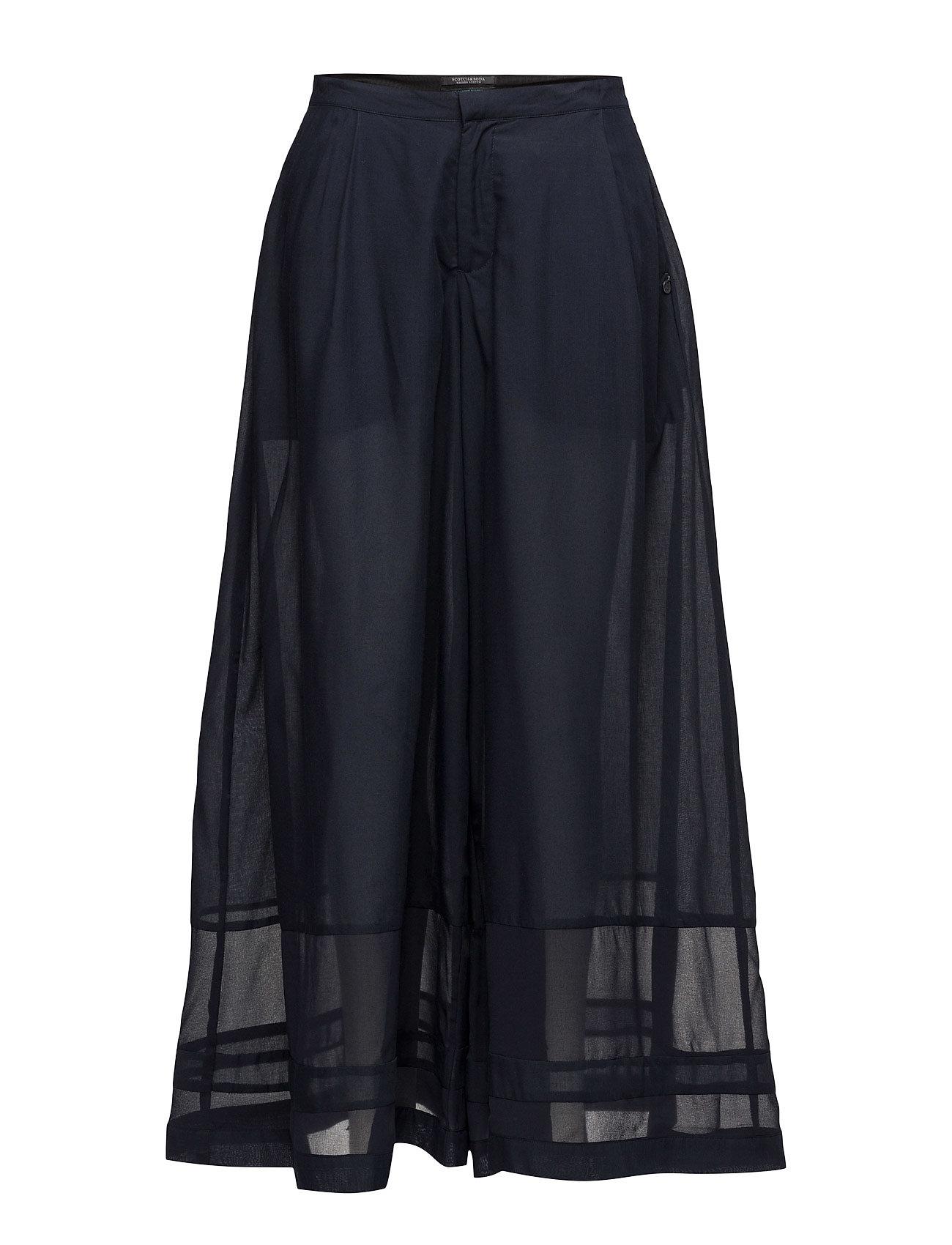 Wide Leg Pant With Contrast Hem Panels Scotch & Soda Trompetbukser til Damer i