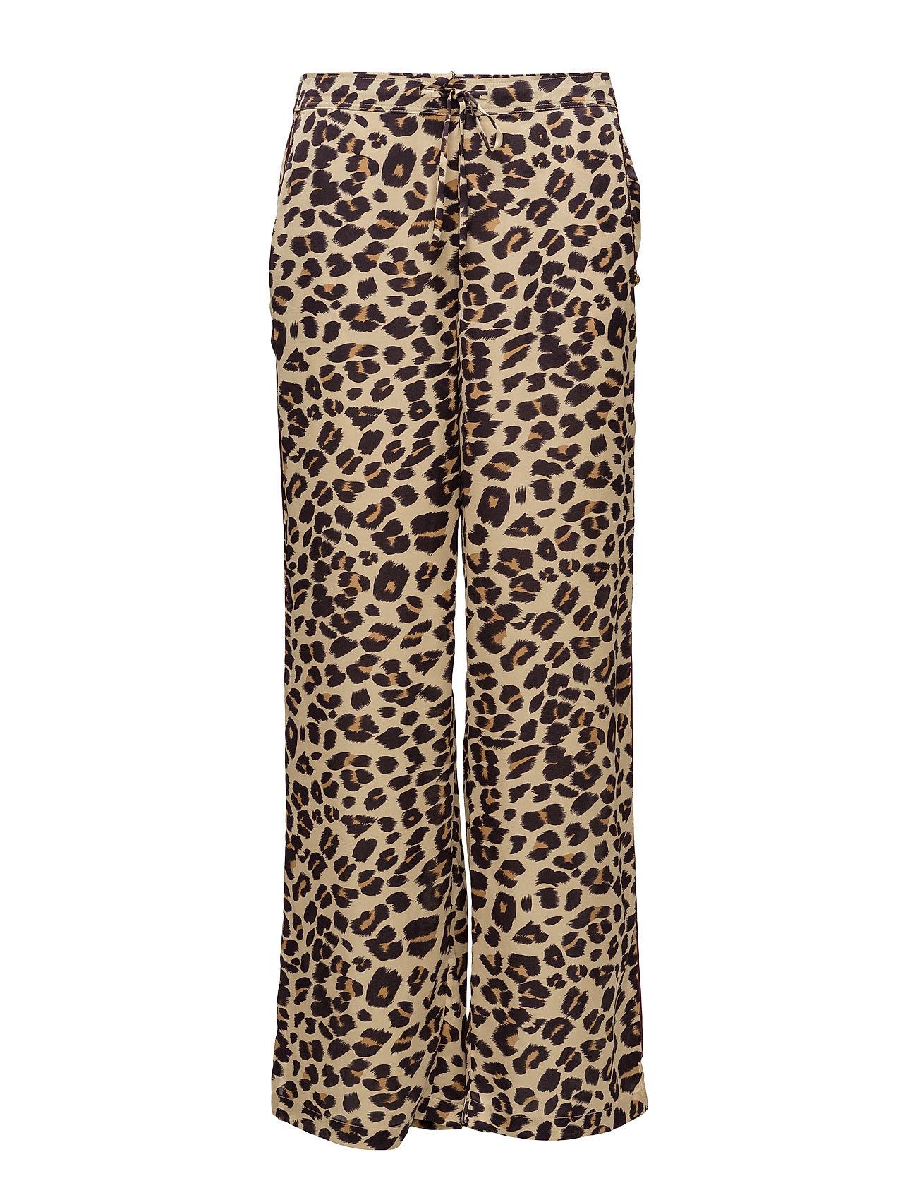 Silky Feel Pyjama Pant With Contrast Piping Scotch & Soda Trompetbukser til Damer i