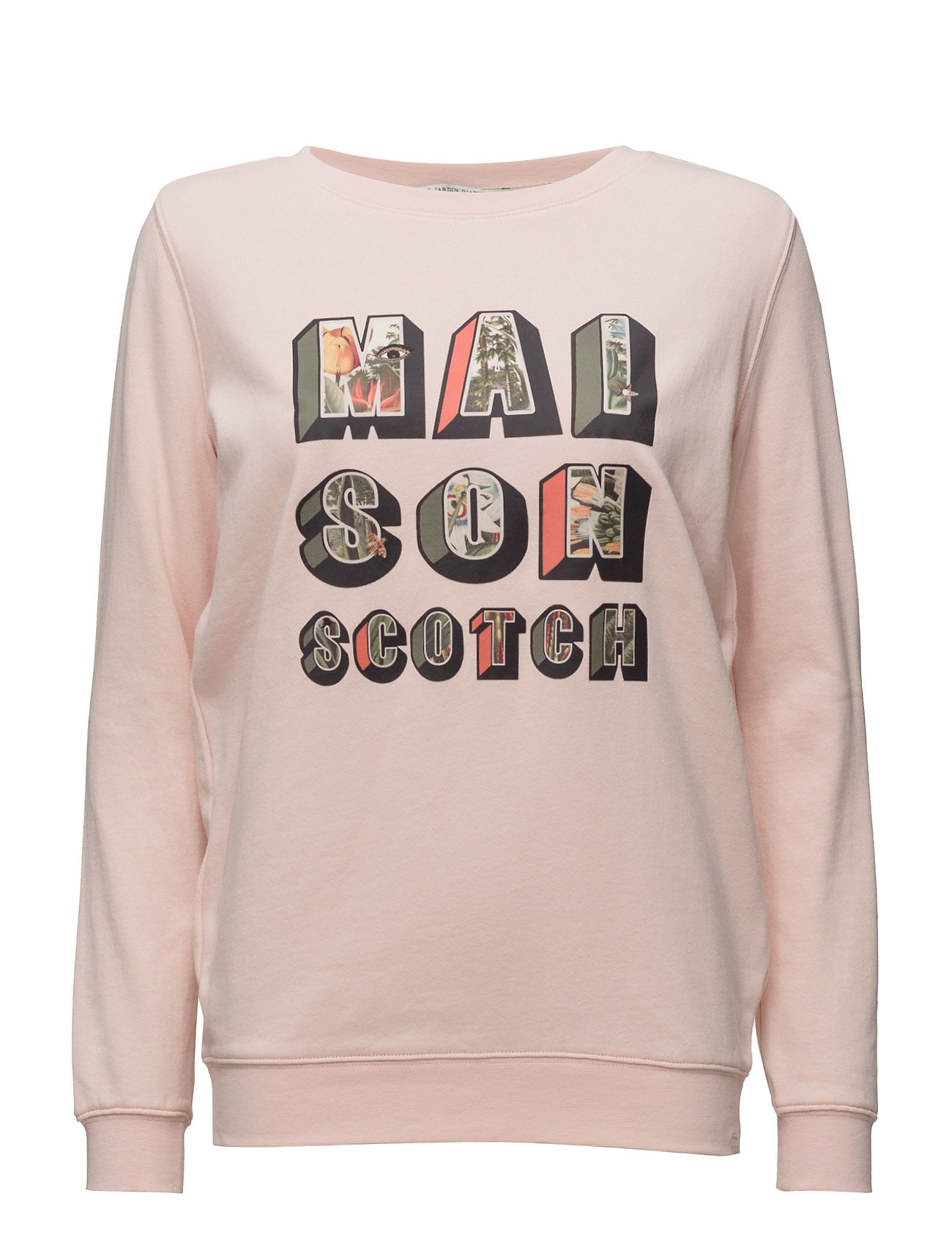 Clean Crewneck Sweat With Special Photoprinted Artworks Scotch & Soda  til Damer i