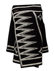 Poncho with graphic pattern - 17 COMBO A