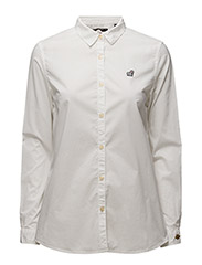 Preppy shirt with cool embroideries - 70 VINTAGE WHITE