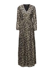Silk lurex jacquard maxi dress - 17 COMBO A