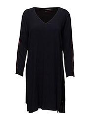 Viscose long sleeve dress with side slit - 2 NIGHT