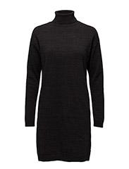Knitted lurex blend turtleneck dress - 18 COMBO B