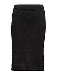 Cotton lurex knitted pencil skirt - 18 COMBO B