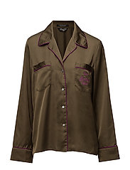 Scotch  &  Soda - Silky Feel Pyjama Shirt With Contrast Pipings  &  Embroideries