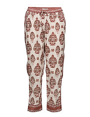 Cotton printed summer pant with border print - COMBO E