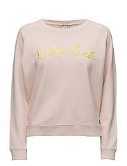 Long sleeve pullover sweat with various graphics - CHERRY BLOSSOM