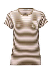 Slim fit round neck tee with chest pocket - COMBO B