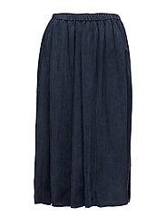 Longer length drapey cupro skirt - NIGHT