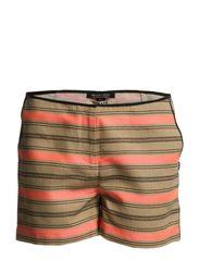 Striped raffia summer short - D-combo D