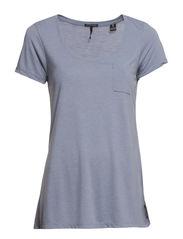 Basic short sleeve crew neck - 650 powder blue mel