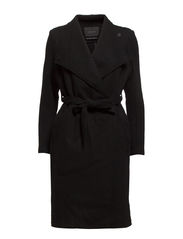 Longer length wool boucle in-between jacket - 90 black