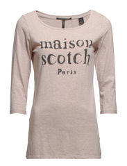 Maison Scotch logo tee - 170 old rose mel