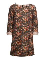 A-line dress in flower printed jacquard fabric - A combo A
