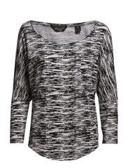 Zebra printed 3/4 sleeve boxy fit tee - off white - 3