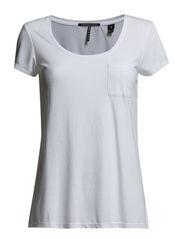 Basic short sleeve crew neck - white - 0