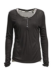 Long sleeve top, sold with inner tank - BLACK 90