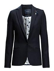 Classic wool blazer - navy - 57