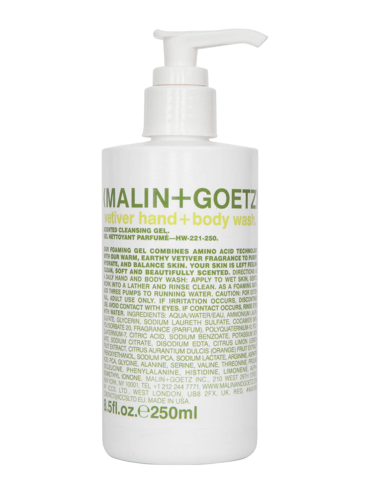 Vetiver Hand + Body Wash Malin+Goetz  til Damer i