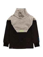 Lolo high collar sweatshirt - BLACK