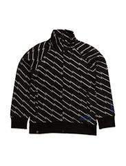Zipp sweatshirt with zipper - BLACK/GREY
