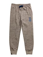 Wipe sweatpants with low crotch - GREY MELANGE