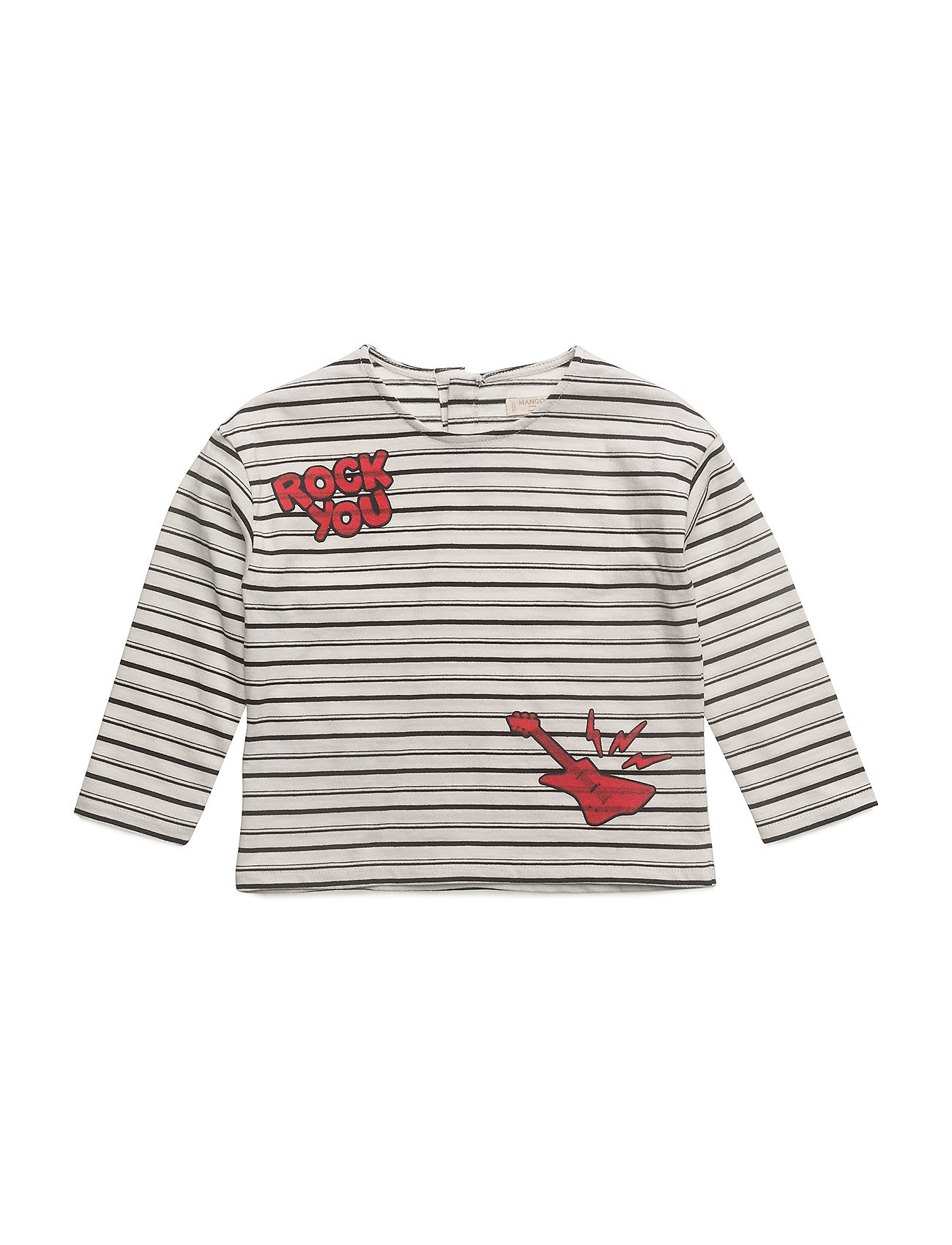 Mango Kids Printed striped t-shirt
