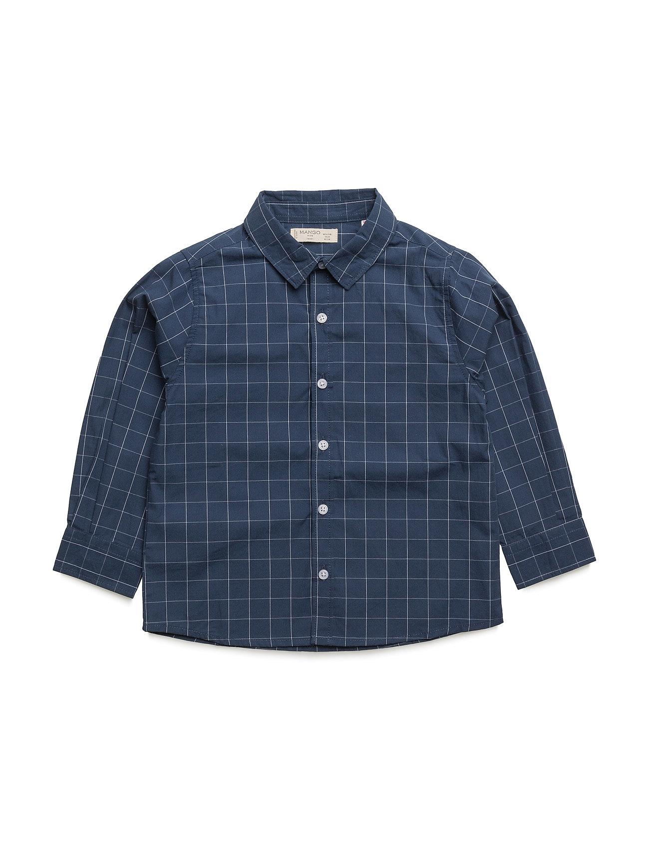 Cotton Shirt Mango Kids  til Børn i Navy blå