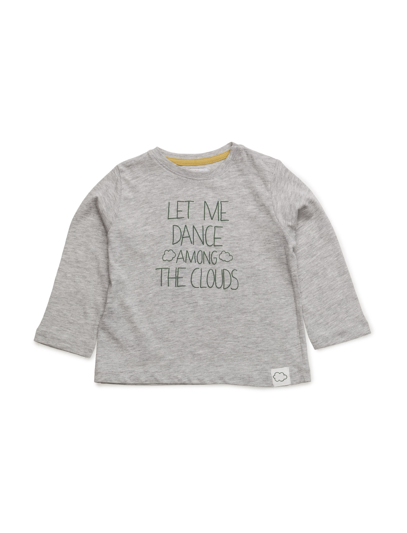 Message Cotton T-Shirt Mango Kids Langærmede t-shirts til Børn i Grå