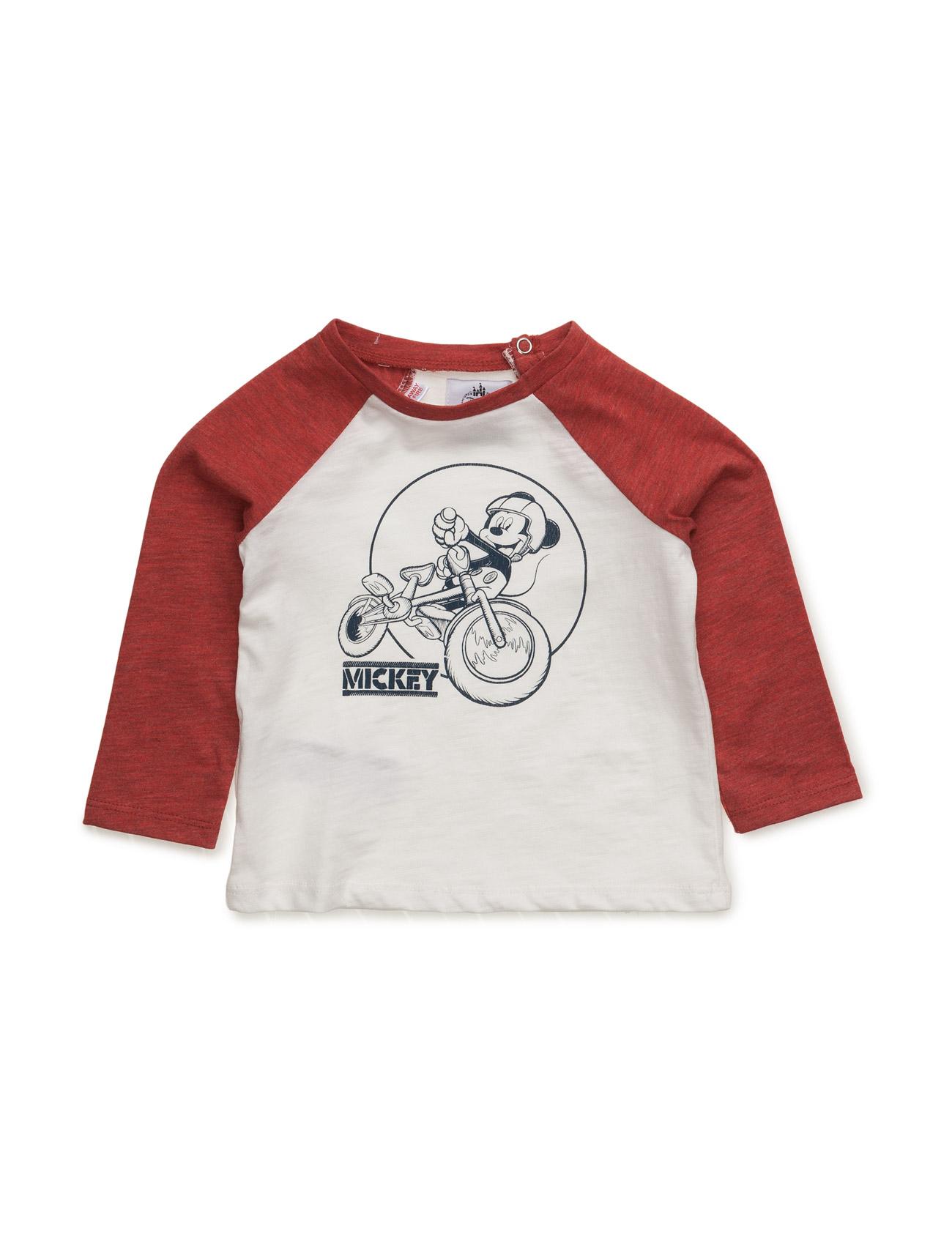 Mickey Mouse T-Shirt Mango Kids Langærmede t-shirts til Børn i hvid