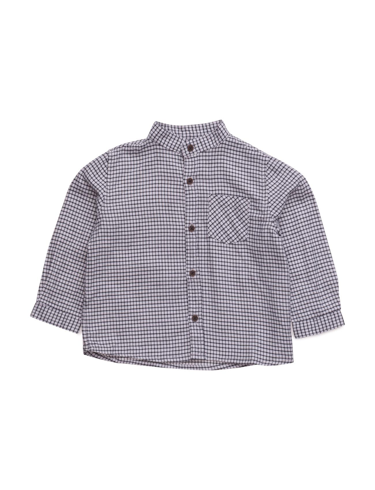 Check Cotton Shirt Mango Kids  til Børn i Grå