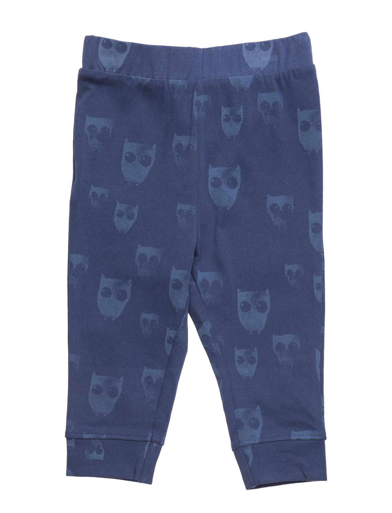 Printed Cotton Trousers Mango Kids  til Børn i Medium Blå