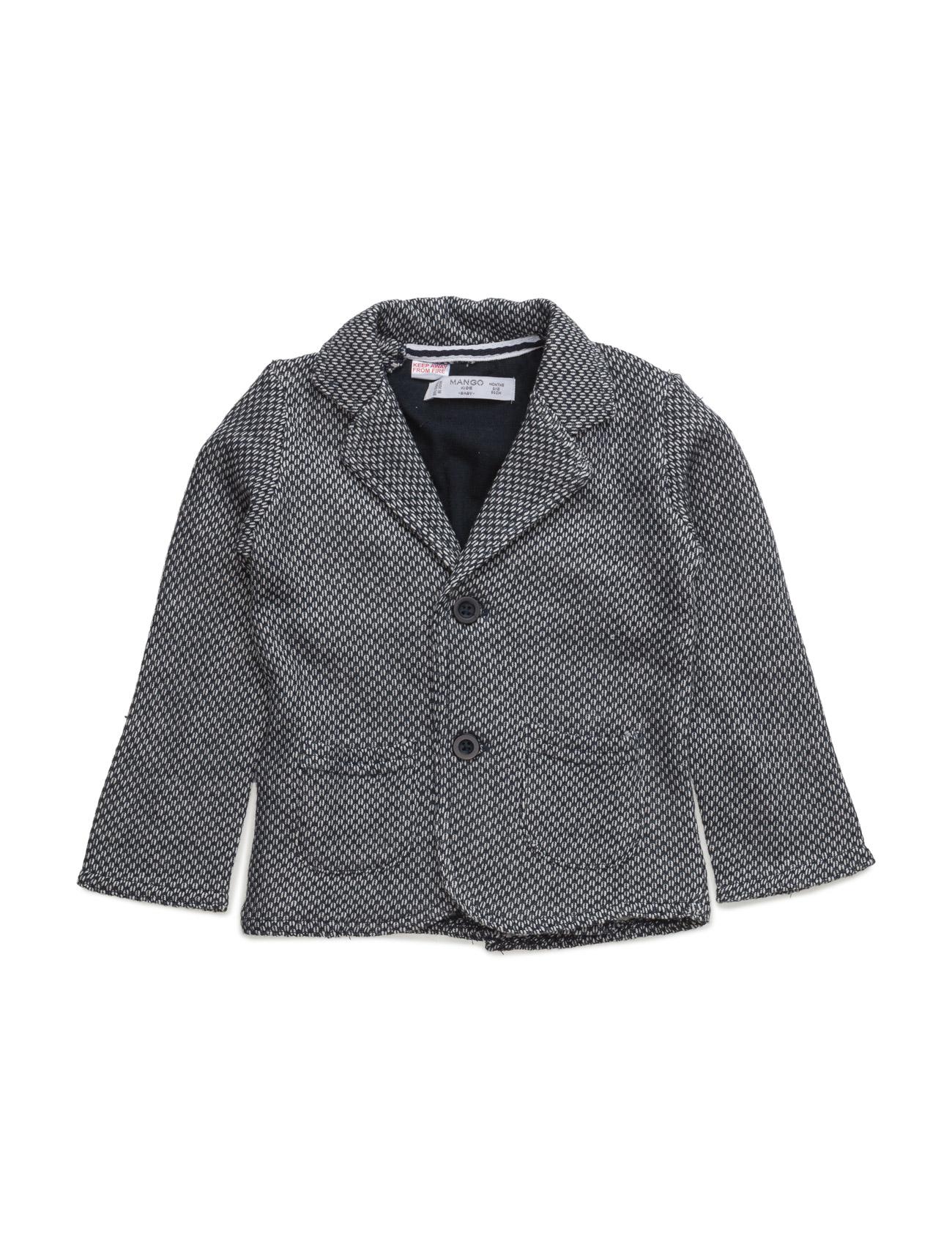 Textured Cotton-Blend Jacket Mango Kids Jakker & Frakker til Børn i Navy blå