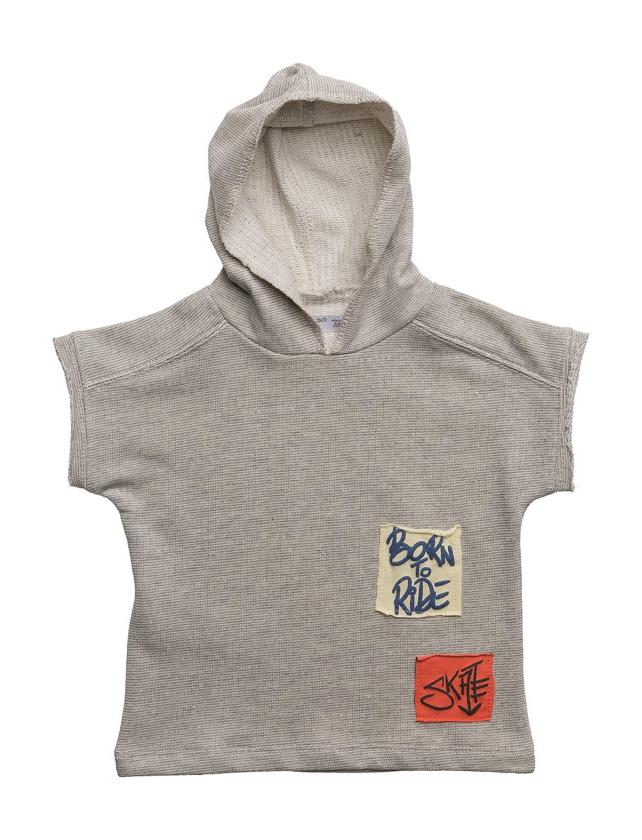 Patch Sweatshirt Mango Kids Striktrøjer til Drenge i Mellem grå