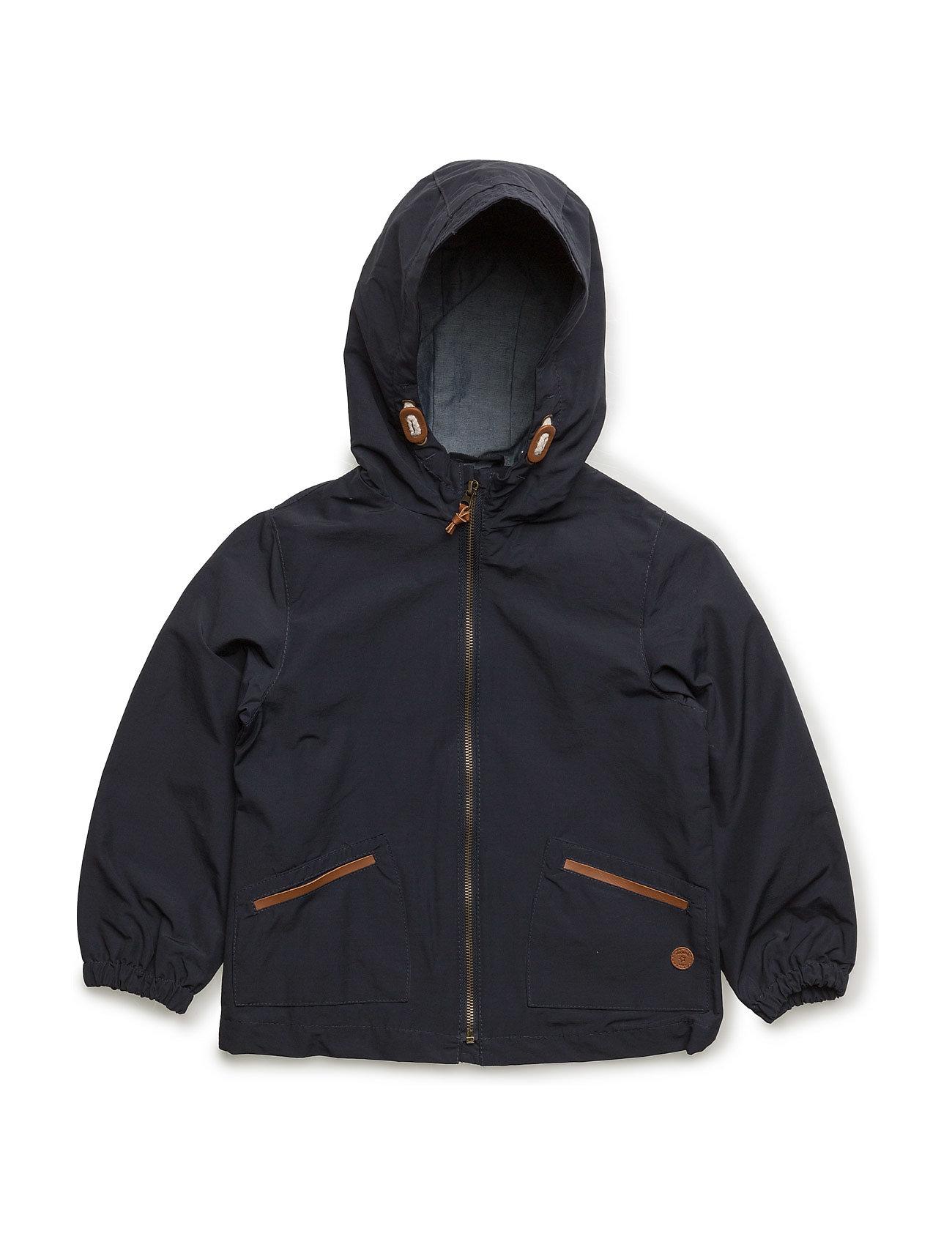 Cotton Hooded Coat Mango Kids Overtøj til Drenge i Navy blå