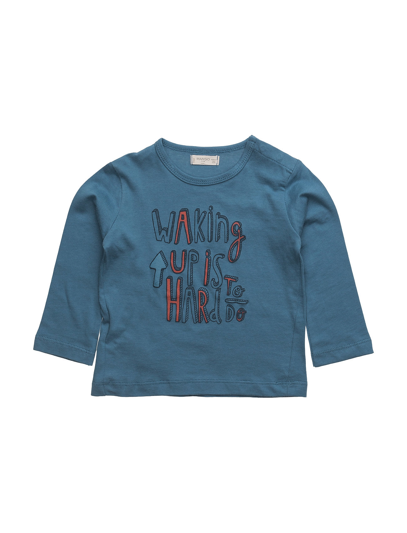 Message Cotton T-Shirt Mango Kids T-shirts til Drenge i